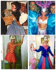 Acting costume collage for various performances.